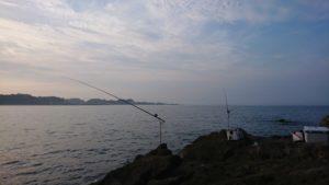 灼熱の暑さの中の石鯛釣り!