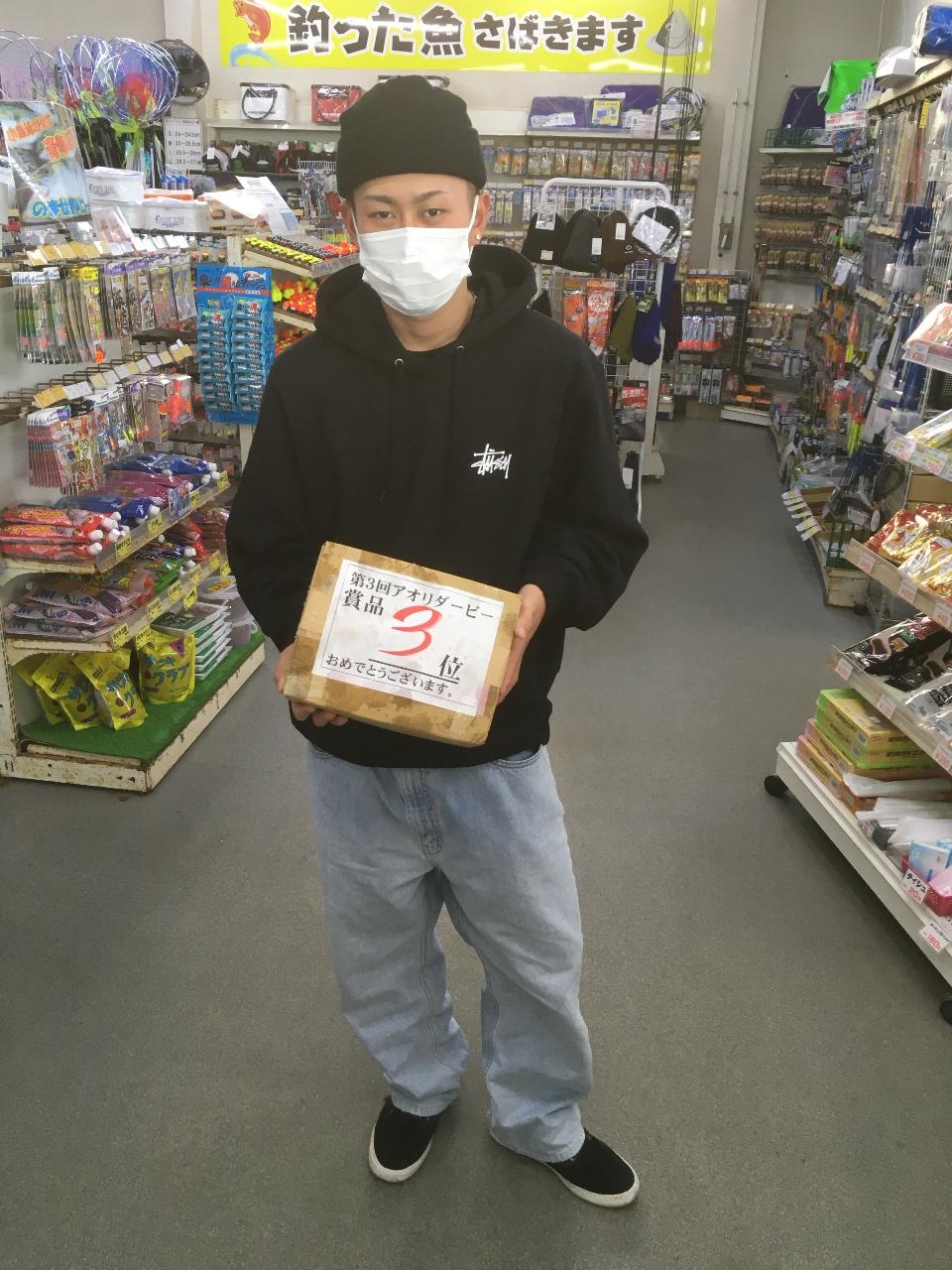 12/28    第5回アオリダービー      3位  イワモト コウキ様  大阪王将冷凍炒めチャーハン10袋get !! おめでとうございます。