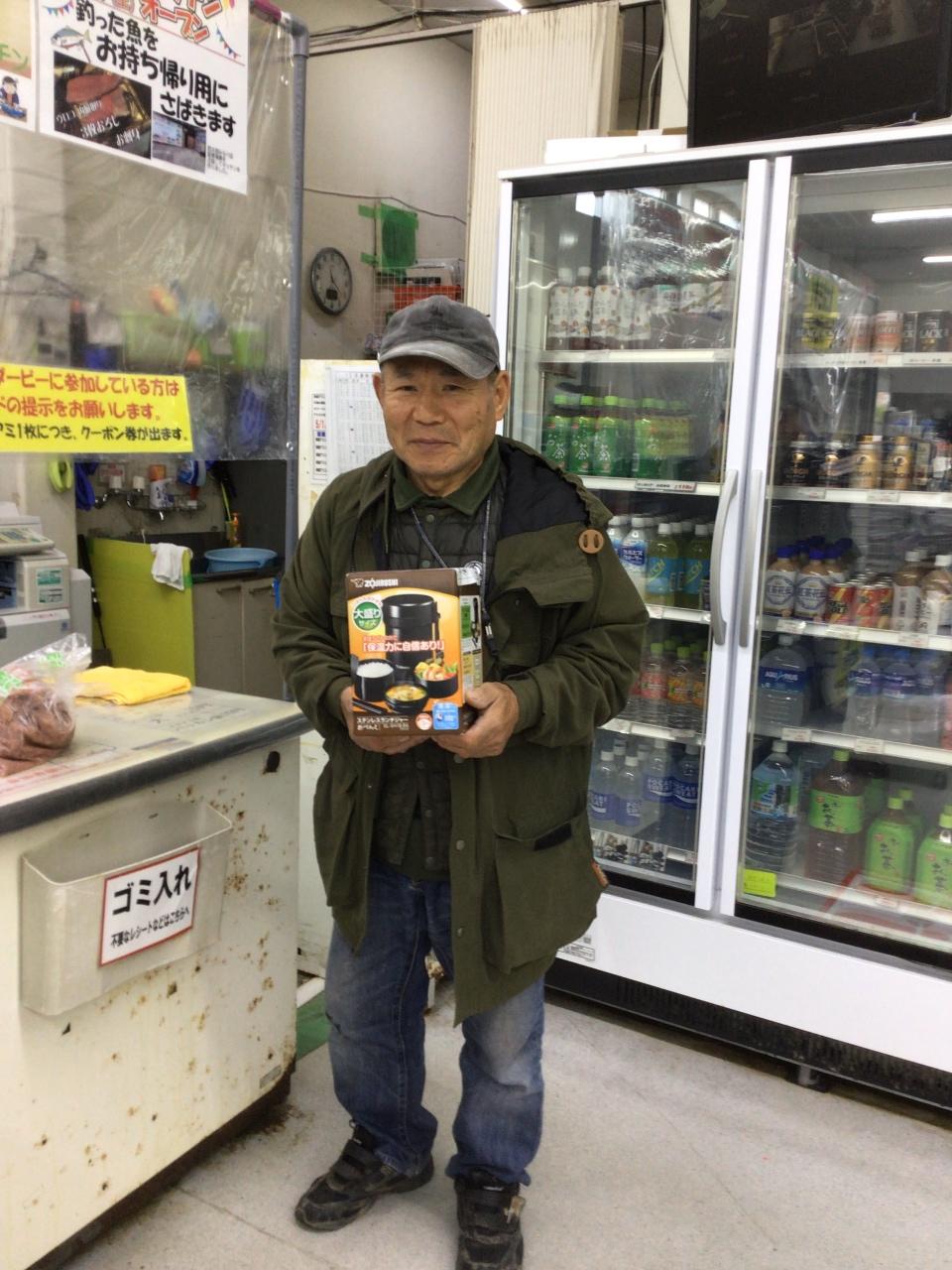 12/ 30  第5回アオリダービー  10位  釣バカ様  象印 ステンレス 弁当箱get !! おめでとうございます。