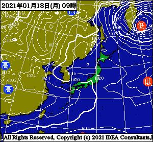釣行サポート1/17更新 週間天気解説【1/18(月)~1/24(日)まで】