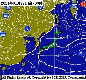 釣行サポート1/20更新 週間天気解説【1/22(月)~1/27(水)まで】