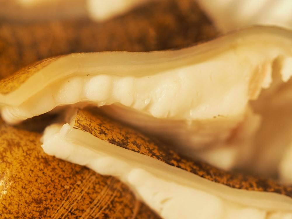 美肌作りに効果的なうつぼは、こんなにコラーゲンがたっぷり含まれています。釣太郎キッチンでは、活絞ウツボのみを使用しています。