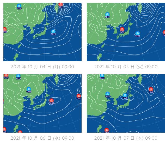 釣行サポート10/4(月)更新 週間天気解説(10/5~10/11)